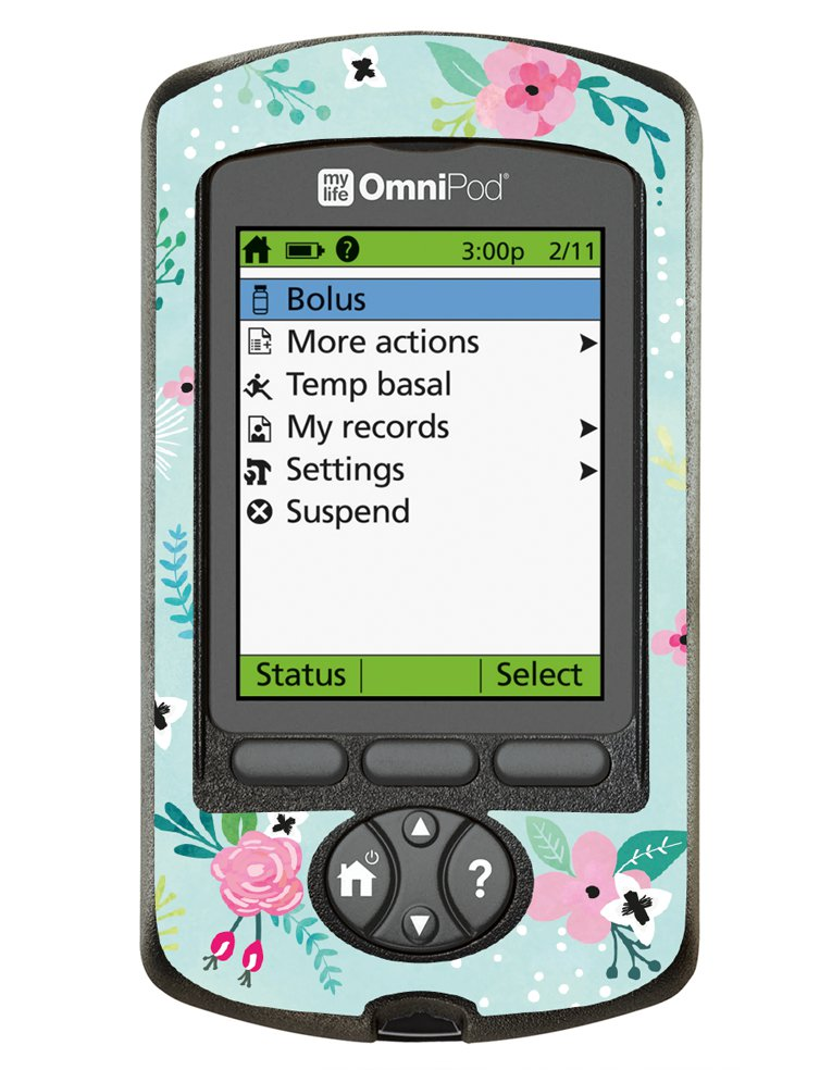 Cover Omnipod Pdm Floral Prikkedief